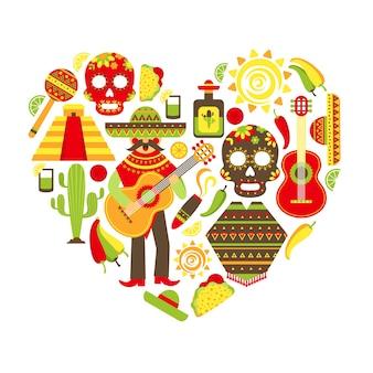 Mexicaanse achtergrond ontwerp