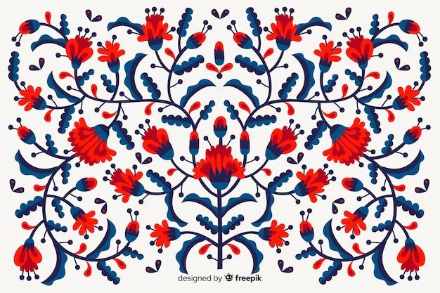 Mexicaanse bloemenborduurwerkachtergrond