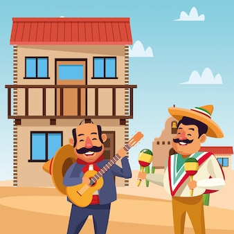Mexicaanse cartoon mannen