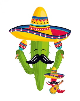 Mexicaanse cultuur cartoon