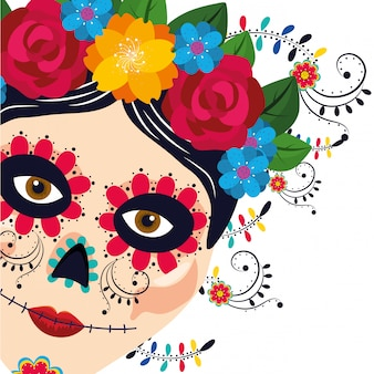 Mexicaanse cultuur vrouw cartoon