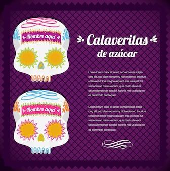 Mexicaanse dag van de dode suikerschedels