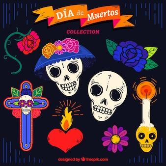 Mexicaanse elementen met handgetekende stijl