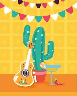 Mexicaanse elementen voor viva mexico