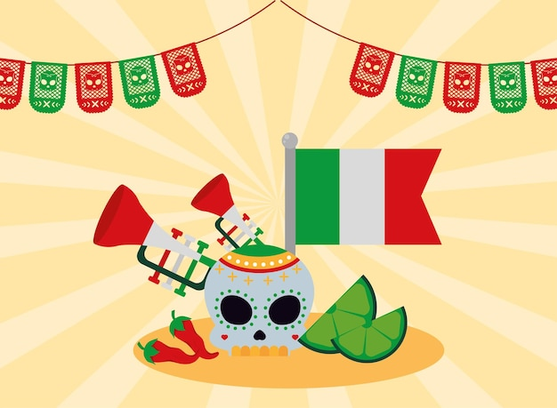 Mexicaanse feestpictogrammen