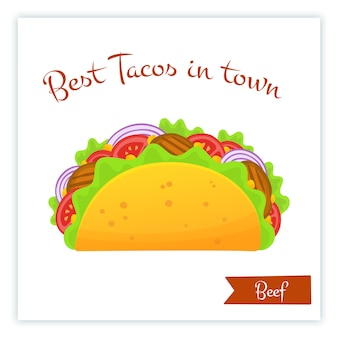 Mexicaanse keuken fastfood rundvlees taco's eten