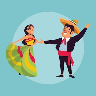 Mexicaanse paar cartoons