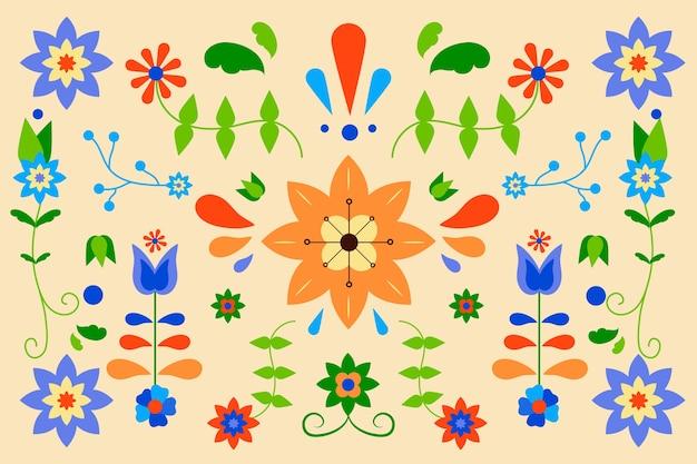 Mexicaanse plat kleurrijke achtergrond