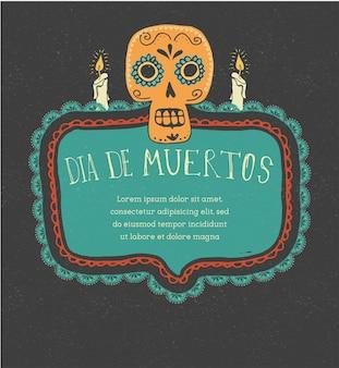 Mexicaanse schedel dag van de doden afdrukken