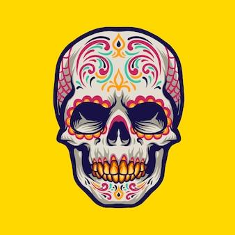 Mexicaanse schedel hoofd karakter