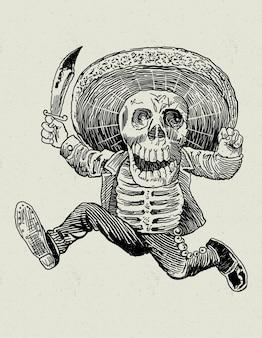 Mexicaanse schedel traditioneel