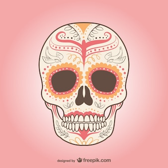 Mexicaanse schedel vector
