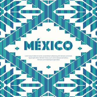Mexicaanse stijl patroon - kopie ruimte sjabloon