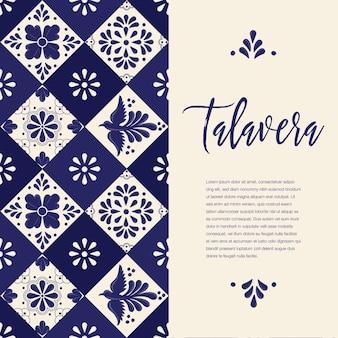 Mexicaanse talavera-tegels - sjabloon voor verticale spandoek