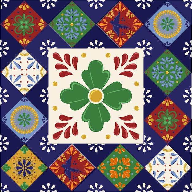 Mexicaanse talavera-tegels