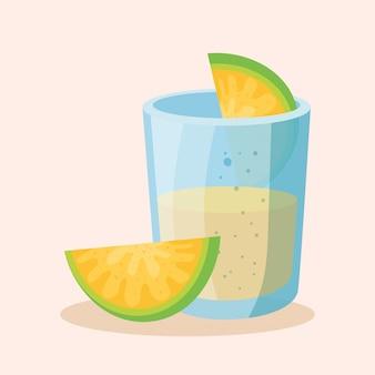 Mexicaanse tequila die met citroen is ontsproten