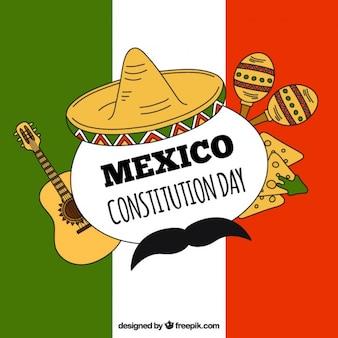 Mexicaanse vlag achtergrond