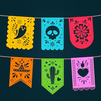 Mexicaanse vlaggetjes