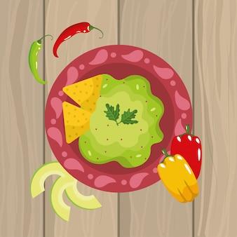 Mexicaanse voedselsaus met de peper van chili