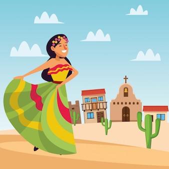 Mexicaanse vrouw dacing