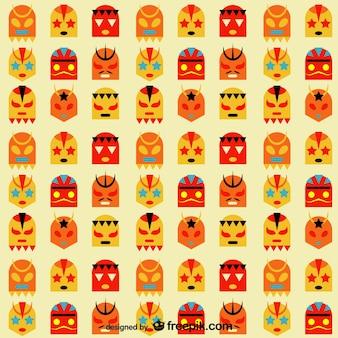 Mexicaanse worstelen maskers pak