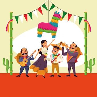 Mexicanen cinco de mayo cartoon