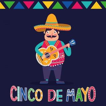 Mexico cinco de mayo kaart