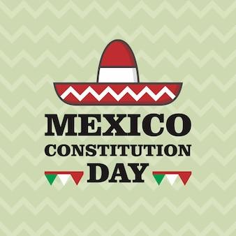 Mexico grondwet dag illustratie