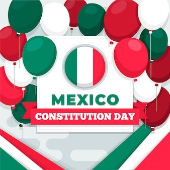 Mexico grondwet dag kleurrijke ballonnen