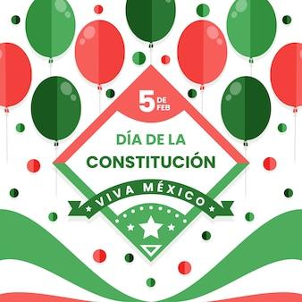 Mexico grondwet dag met ballonnen