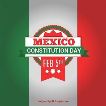 Mexico grondwet dag met vlag