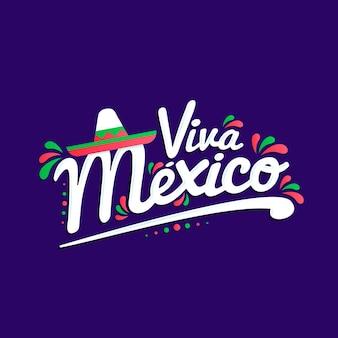 Mexico onafhankelijkheidsdag belettering stijl