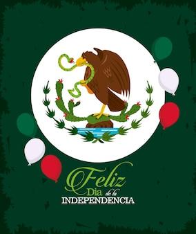 Mexico onafhankelijkheidsdag embleem