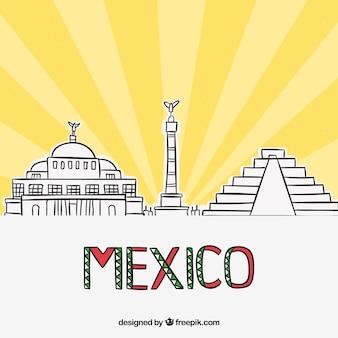 Mexico skyline achtergrond