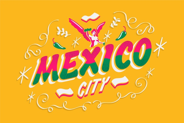 Mexico stad belettering