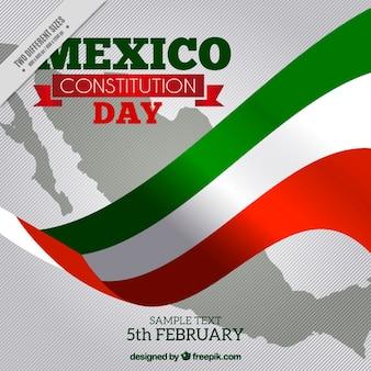 Mexico vlag achtergrond voor de dag van de grondwet