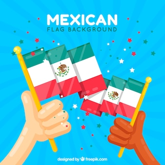 Mexico vlag achtergrond