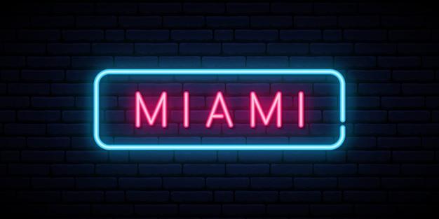 Miami neon teken.