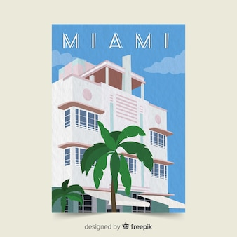 Miami promotionele folder sjabloon