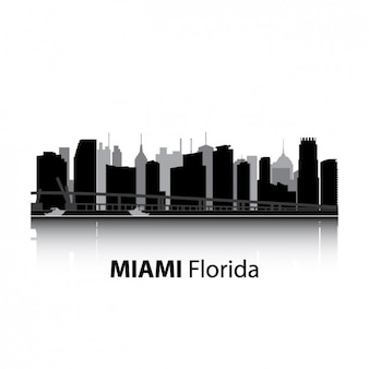 Miami skyline ontwerp