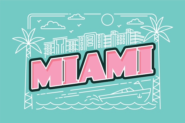 Miami stad belettering