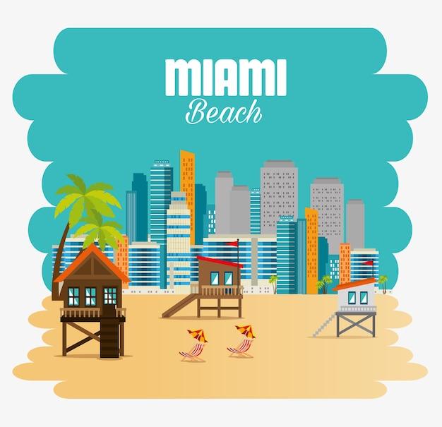 Miami strand stadsbeeld