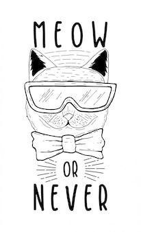 Miauw of nooit typografieontwerp