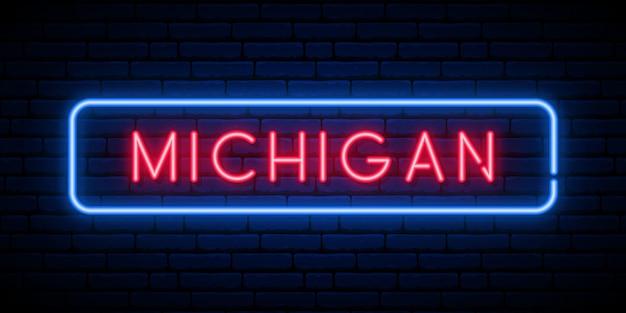 Michigan neon uithangbord