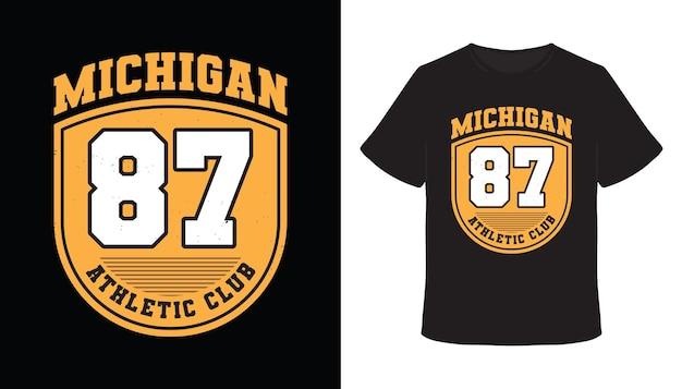 Michigan zevenentachtig typografie t-shirtontwerp