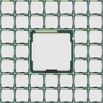 Microchip van de elektronica.