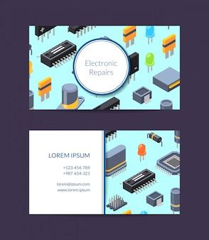 Microchips en reparatie van elektronische kaarten
