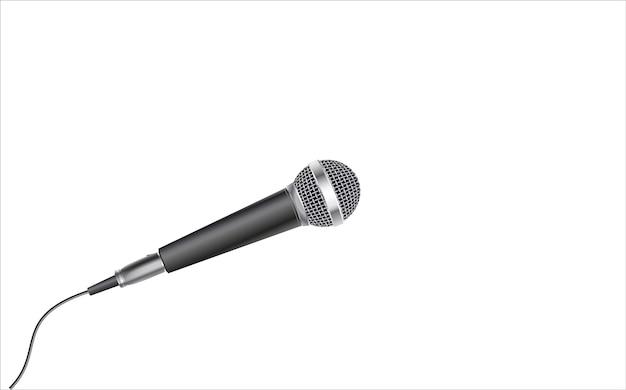 Microfoon geïsoleerd op witte achtergrond
