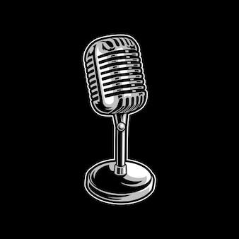 Microfoon kunstwerk illustratie ontwerp logo