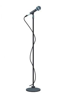 Microfoon op standaard